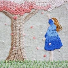 * . 桜 . . #刺繍#手刺繍#手芸#embroidery#handembroidery#stitching#needlework#자수#broderie#bordado#вишивка#stickerei#桜