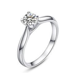 MIMI Zircon Sterling Silver Ring - 5mm Cut :http://mimimoreau.com/product/mimi-zircon-sterling-silver-ring-4/