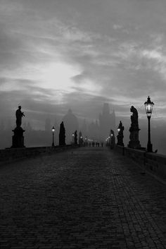 Prague ~Great shot, it's hard to get the bridge empty like that.~J.