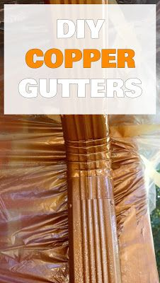 Take a look at this magnificent half round gutters - what an artistic version House Gutters, Diy Gutters, Copper Gutters, Copper Awning, Copper Roof, Painting Gutters, Awning Over Door, Gutter Colors, Copper Spray Paint