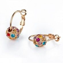 Wholesale Lucky Balls Earrings with Inlaid Colorful Crystals