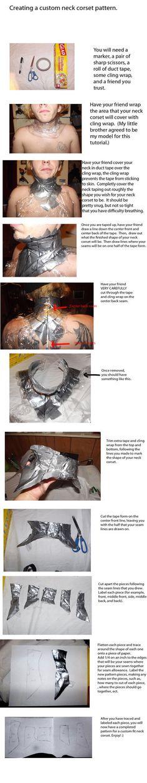Tutorial: creating a custom neck corset pattern by ~PixieAlchemi on deviantART