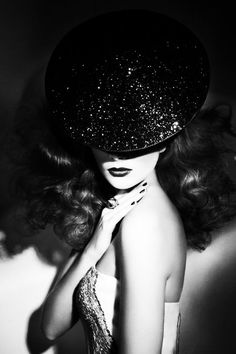 A kiss on the hand may be quiet continental,  but diamonds are a girl's best friend! Love this picture! :: Sparkle:: Glitter:: Glam:: Black and white vintage