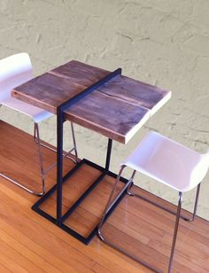Handmade Reclaimed Wood And Steel Bar Table by PH Weld | CustomMade.com