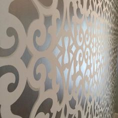 Stenciling with Modern Masters Metallic Paint by Patti Halstead of The Finishing Touch Austin