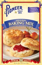 Pioneer® Brand biscuit mix, baking mix and pancake mix.