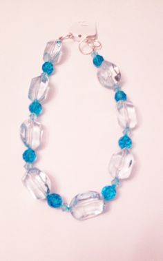Necklace Large and Small Blue Acrylic Beads and by AuburnEmporium, £25.00