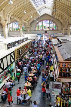 Interior do Mercado Municipal de São Paulo, estado de Sao Paulo, Brasil.