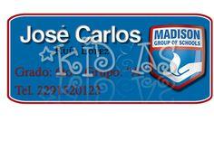 Madison #back2school #etiquetas #escolares #stickers #etiquetatodo #maskideas