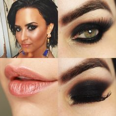 Tutorial – Olho preto Demi Lovato Cool for the summer