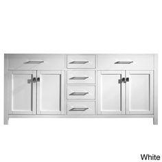 Virtu USA Caroline 72-inch Double Sink Bathroom Vanity Cabinet (Cabinet