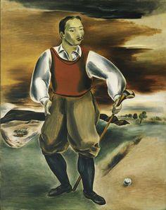 Self portrait as a golf player. Yasuo Kuniyoshi