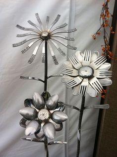 repurposed garden art