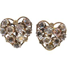 Pair Vogue Sterling Hearts Pins Brooches - Exclusively at Lee Caplan Vintage Collection  on RubyLane