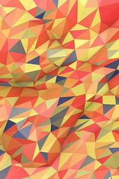 Abstract Red Yellow Polyart Pattern #iPhone #4s #wallpaper