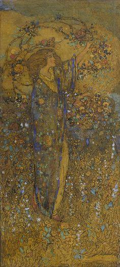 Annie French (1872-1965)The flower maiden.