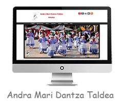 Andra Mari dantza taldea de Güeñes, diseño de la página web del grupo de danzas de Güeñes.