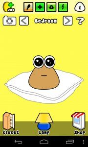 Pou Created by Paul Salameh,  Porpous: To reach a high level by feeding and cover basic needs of  a pet for making Pou grow. It is teaching the responsibility of having a pet. It is teaching it by making you feed, bath, entretain, keep healthy the Pou every single day. Possible subject: Science, biology. a) Topic - 1 b) Strategy - 1 c) Coordination - 2 d) Teamwork - 0 e) Thinking- 0 f) Story - 2