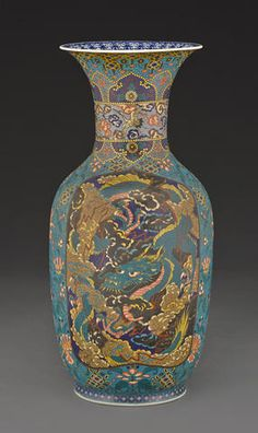 A large sometsuketai cloisonné baluster vase Meiji period, late 19th century