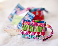 Ruffle Wristlet is super cute for scraps and fat quarters!