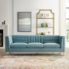 online shopping for Modway Ingenuity Channel Tufted Performance Velvet Sofa, Light Blue from top store. See new offer for Modway Ingenuity Channel Tufted Performance Velvet Sofa, Light Blue Sofa Upholstery, Upholstered Sofa, Sofa Furniture, Living Room Furniture, Living Room Decor, Chesterfield Sofa, Modern Furniture, Furniture Layout, Living Room Ideas