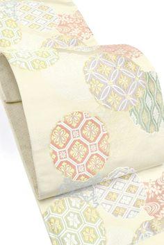 【高島織物】 特選西陣織袋帯 「雪輪割付華文」