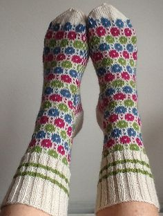 Ravelry: Project Gallery for Tiit's Socks pattern by Nancy Bush Fair Isle Knitting, Knitting Socks, Knit Socks, Warm Socks, Socks And Heels, Easy Knitting Patterns, Knitted Slippers, Mittens, Crochet Projects