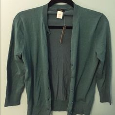 NEW WITH TAGS J. Crew Cardigan Dark teal, size small J. Crew Sweaters Cardigans