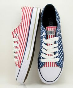 Take a look at this Red & Blue Yankee Sneaker - Women by XOLO Shoes on #zulily today!
