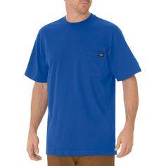 Dickies Men's Big & Tall Cotton Heavyweight Short Sleeve Pocket T-Shirt- Royal Blue Xxxl Tall