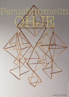 Magdan kotona: Perinteisen himmelin ohje All Things Christmas, Christmas Time, Christmas Crafts, Diy Projects To Try, Crafts To Do, Straw Crafts, Geometric Sculpture, Deco Nature, Scandinavian Christmas