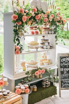 dessert display - photo by Curios Photography http://ruffledblog.com/edwardian-england-wedding-ideas