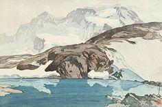 "Japanese Art Print ""The Breithorn (Buraitohorun-Yama)"" from the European Series by Yoshida Hiroshi. Shin Hanga and Art Reproductions http://www.amazon.com/dp/B00ZABONJI/ref=cm_sw_r_pi_dp_2RNswb0EC2DKT"