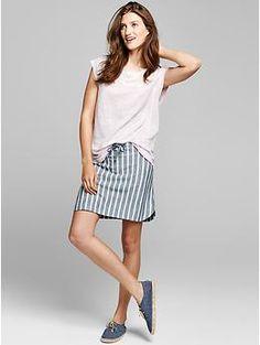 Stripe Dolphin Skirt Size: L - Color: Blk - Cost: 49.95 - gap.com
