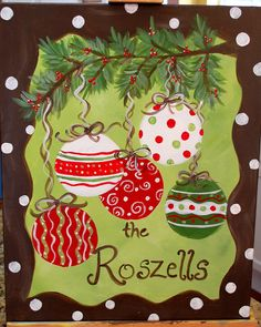 Custom+Christmas+Ornament+Family+Painting+by+TheCreatorsCanvas,+$75.00