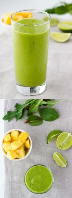 Coconut Lime Green Smoothie  {Dairy-Free, Vegan}