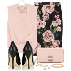 Dolce & Gabbana Rose Skirt by snickersmother on Polyvore featuring polyvore, fashion, style, 3.1 Phillip Lim, Dolce&Gabbana, Karen Millen, See by Chloé, Henri Bendel and Kate Spade
