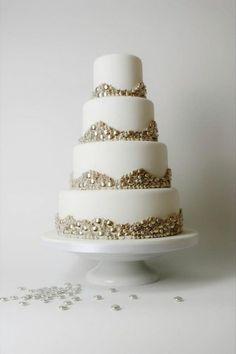Metallic Silver Wedding Cake