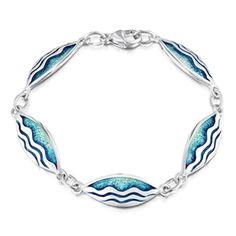 Pretty sterling silver ''Sands of Time''bracelet, from Sheila Fleet. http://www.oghamjewellery.com/Silver-Enamel-Bracelet-Sheila-Fleet-EBL86-p/ebl86.htm