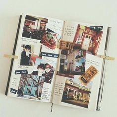 Creative layout ideas from 50 beautiful print and digital photo collages photo album scrapbooking, scrapbook Scrapbook Journal, Travel Scrapbook, Friend Scrapbook, Photo Journal, Journal Pages, Journal Ideas, Digital Foto, Memory Books, Memory Album