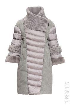 Пуховик с меховой отделкой Diego M PL-28220TM за 85700 руб. Интернет магазин брендовой одежды премиум-класса онлайн бутик - Topbrands.ru