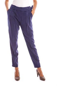 Pantaloni Donna Lavand. (BO-124C34-9-1 BLUE) colore Blu