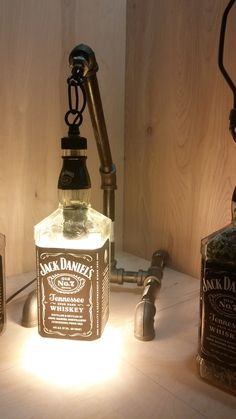 Gas Pipe Lamp with JD Bottle