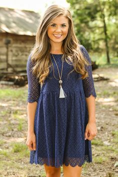 Don't Let Go Dress-Navy - All Dresses | The Red Dress Boutique