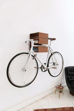 Sensational Creative Bike Storage Designs: Creative Bike Storage Ideas As Bookcase Black Leather Sofa ~ flohomedesign.com Outdoor Inspiration