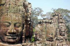 The Top 10 Greatest Landmarks in the World ~ Bayon Temple, Siem Reap, Cambodia Bucket List Destinations, Travel Destinations, Monuments, Great Places, Places To See, Laos, Italy Coast, Thailand Adventure, Angkor Wat