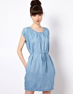Won Hundred Jeans Inky Dress in Tencel Denim Won Hundred