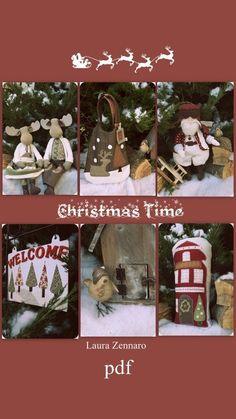 Christmas Reindeers Pattern ,PDF Sewing pattern for a Festive Nordic,christmas patterns,Toy Reindeer Santa Claus Sewing diy ,CHRISTMAS BAG