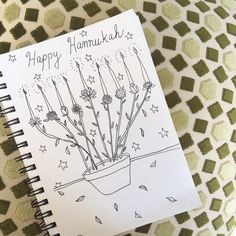 Someone once told me that it's impossible to spell #hanukkah incorrectly, but according to a google search, I'm not entirely sure if that's true. I don't actually own a #menorah, but here's a #quicksketch of my fantasy one. Happy Chanukah y'all!