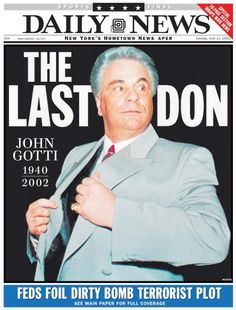 John Gotti dies of cancer at 61 in 2002 - NY Daily News